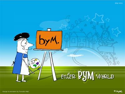 Σχεδιασμός - flash animation ιστοχώρου bymart.gr