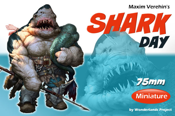 Teaser Banner for Wonderlands Project - Maxim Verehin's Shark Day Miniature, Indiegogo campaign